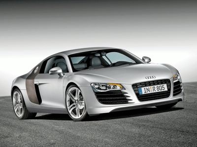 This is the 2007 Audi R8 promotional photo used as my subject.